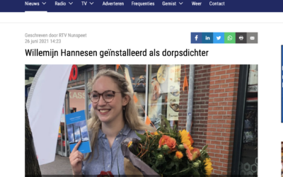 Dorpsdichter artikel RTV Nunspeet